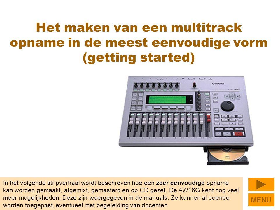In het volgende stripverhaal wordt beschreven hoe een zeer eenvoudige opname kan worden gemaakt, afgemixt, gemasterd en op CD gezet.