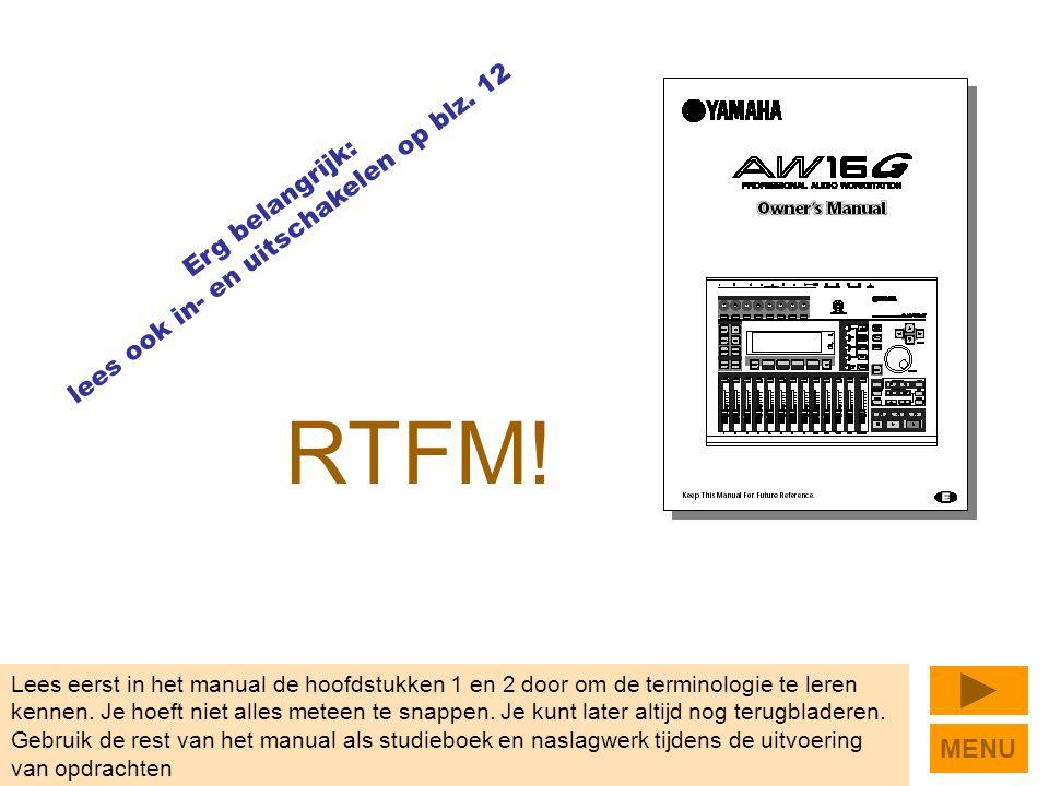 RTFM. Lees eerst in het manual de hoofdstukken 1 en 2 door om de terminologie te leren kennen.
