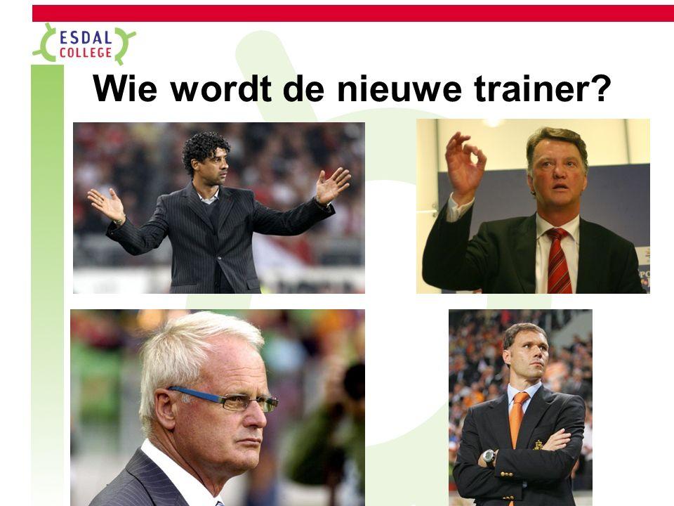 Wie wordt de nieuwe trainer