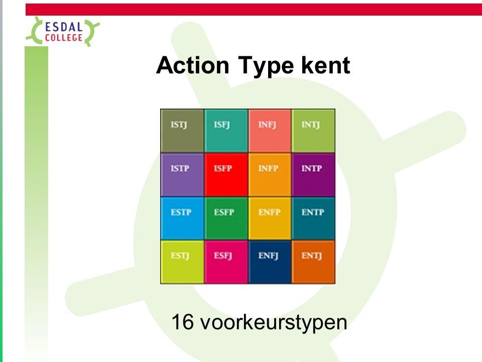 Action Type kent 16 voorkeurstypen