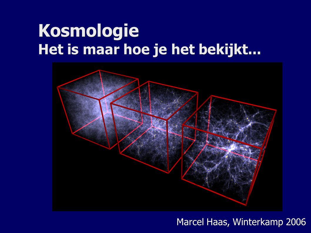 Kosmologie Het is maar hoe je het bekijkt... Marcel Haas, Winterkamp 2006