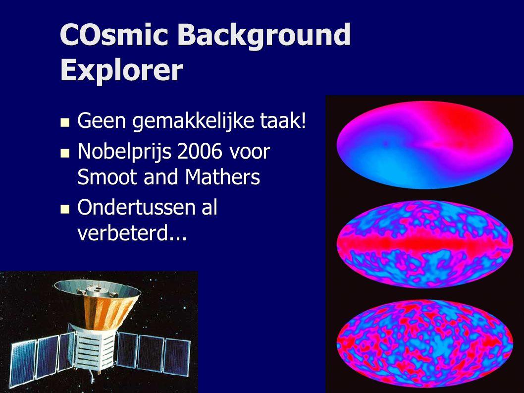 COsmic Background Explorer Geen gemakkelijke taak.