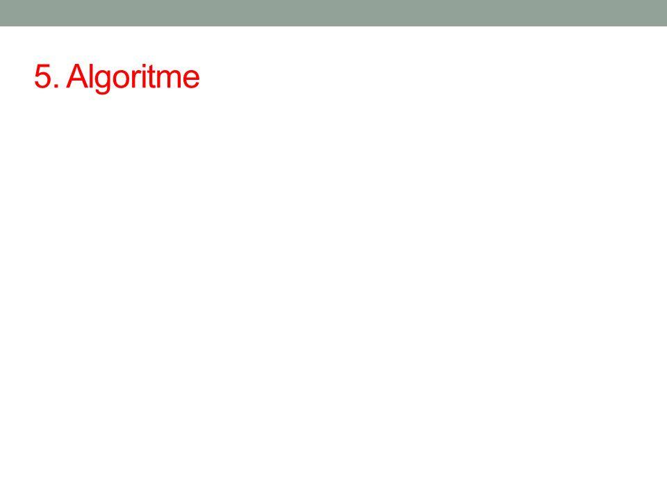 5. Algoritme
