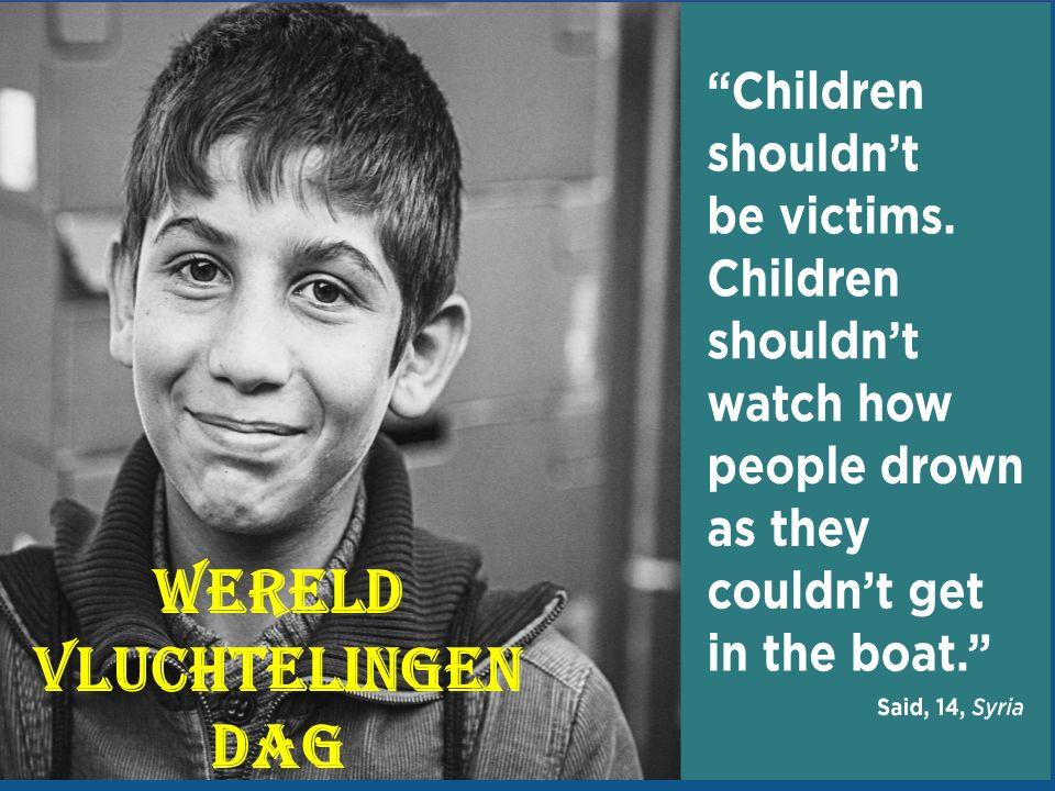 Wereld Vluchtelingen Dag 18 juni