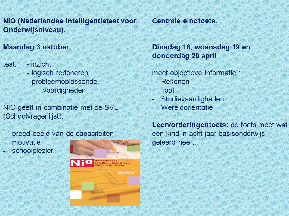 NIO (Nederlandse Intelligentietest voor Onderwijsniveau).