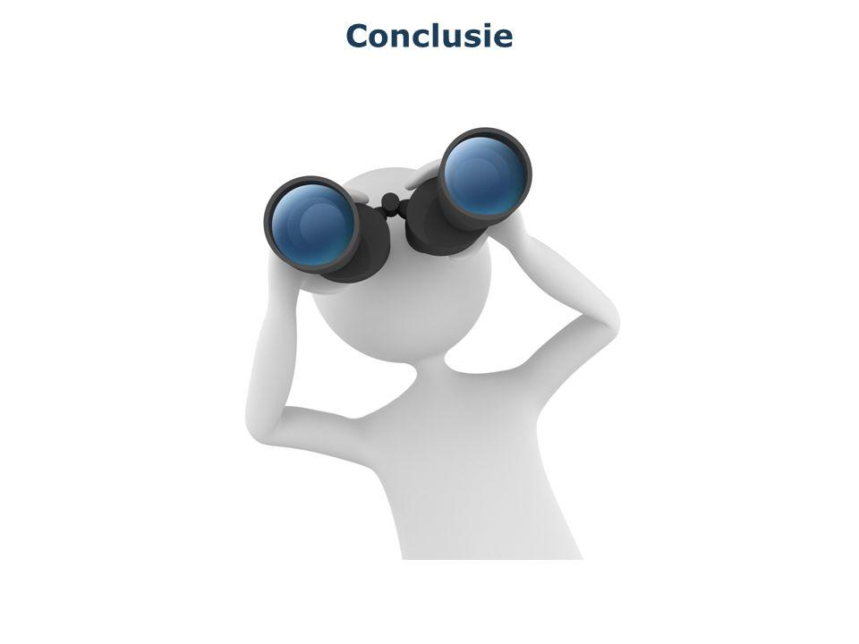 Conclusie en aanbevelingen Algemene tevredenheid en loyaliteit: Hoge scores bij extramurale cliënten Vertegenwoordigers zijn kritisch; uitdaging; hoe kunnen jullie de band met de vertegenwoordigers aanhalen.