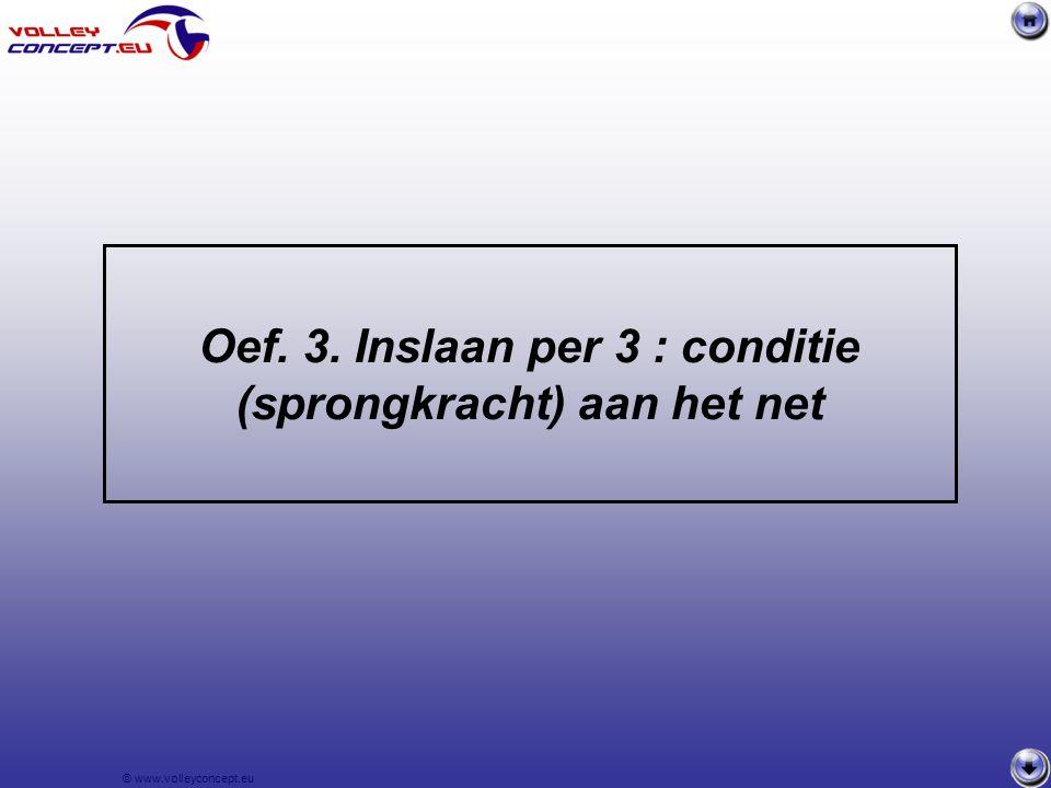 © www.volleyconcept.eu 2 serveerders S1 en S2 ( S3 en S4) slaan tegelijkertijd op naar R1 en R2 (R3 en Lib) Serveerders spreken onderling af wie naar welke receptiespeler opslaat.