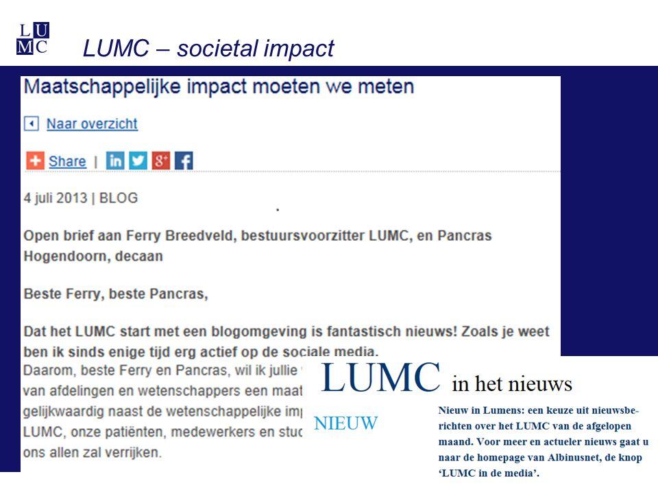 LUMC – societal impact