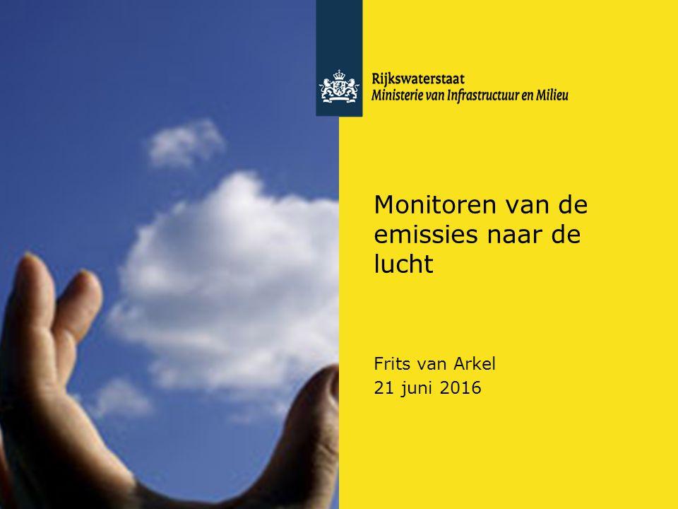 Rijkswaterstaat (InfoMil) 1Ozon en F-gassen regelgeving Rijkswaterstaat (InfoMil) Toezicht lucht in het Activiteitenbesluit Monitoren van de emissies