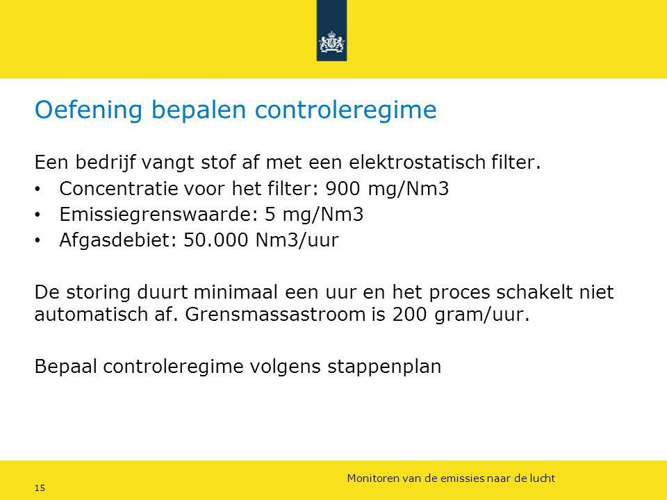 Rijkswaterstaat (InfoMil) 15Ozon en F-gassen regelgeving Rijkswaterstaat (InfoMil) Toezicht lucht in het Activiteitenbesluit Oefening bepalen controle