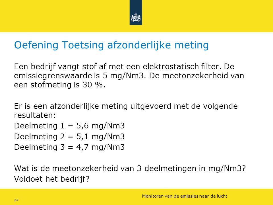 Rijkswaterstaat (InfoMil) 24Ozon en F-gassen regelgeving Rijkswaterstaat (InfoMil) Toezicht lucht in het Activiteitenbesluit Oefening Toetsing afzonde