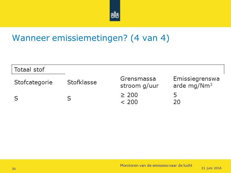Rijkswaterstaat (InfoMil) 30Ozon en F-gassen regelgeving Rijkswaterstaat (InfoMil) Toezicht lucht in het Activiteitenbesluit Wanneer emissiemetingen?