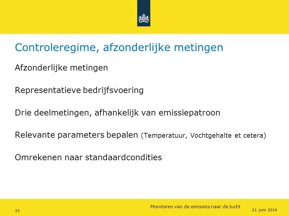 Rijkswaterstaat (InfoMil) 33Ozon en F-gassen regelgeving Rijkswaterstaat (InfoMil) Toezicht lucht in het Activiteitenbesluit Controleregime, afzonderl