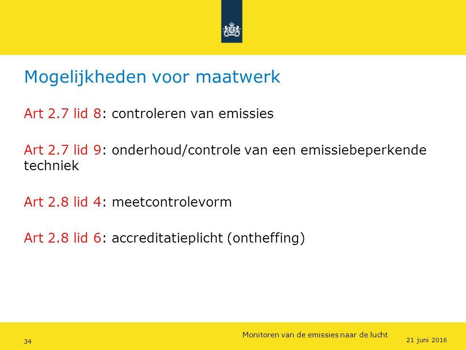 Rijkswaterstaat (InfoMil) 34Ozon en F-gassen regelgeving Rijkswaterstaat (InfoMil) Toezicht lucht in het Activiteitenbesluit Mogelijkheden voor maatwe