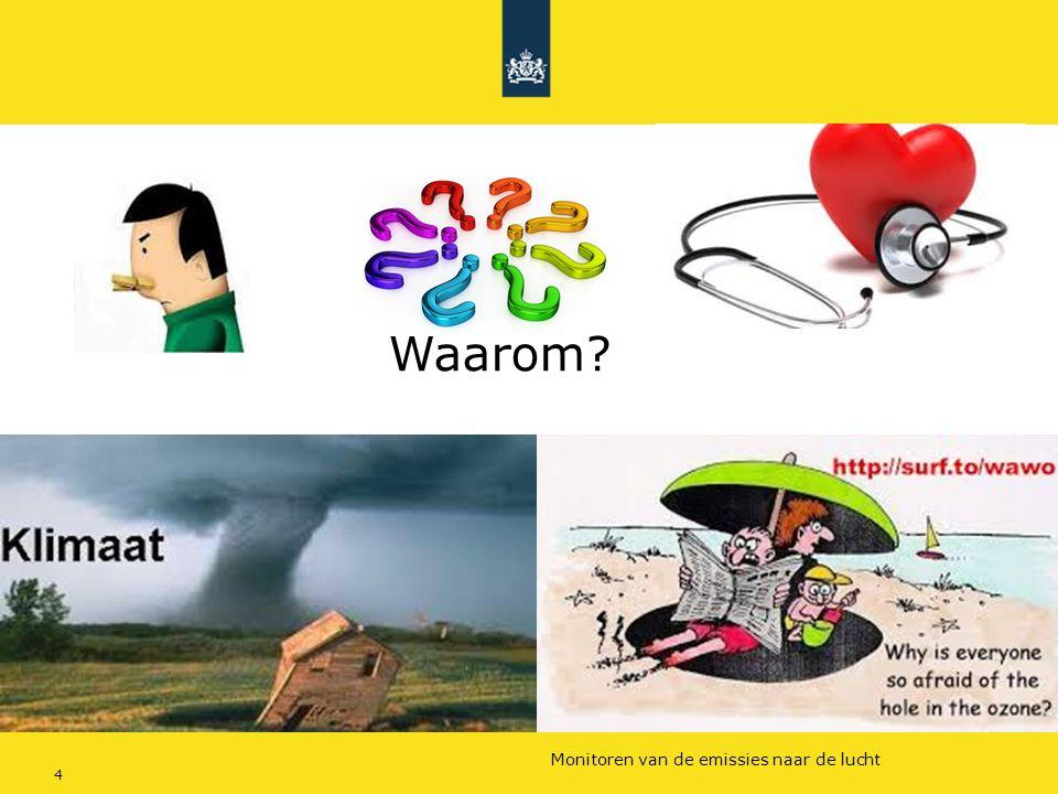 Rijkswaterstaat (InfoMil) 4Ozon en F-gassen regelgeving Rijkswaterstaat (InfoMil) Toezicht lucht in het Activiteitenbesluit Monitoren van de emissies
