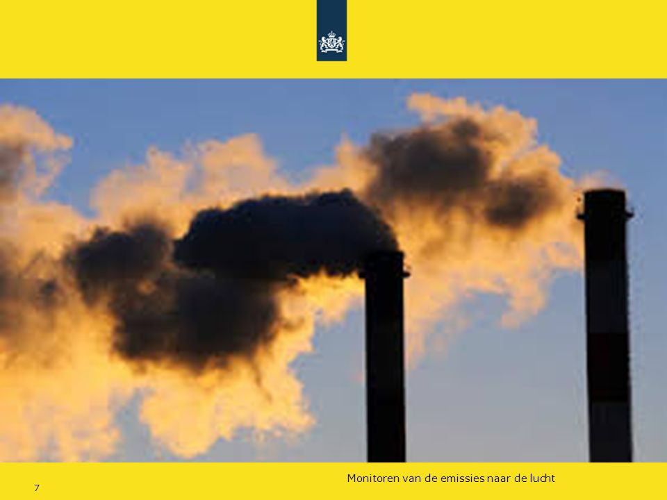Rijkswaterstaat (InfoMil) 7Ozon en F-gassen regelgeving Rijkswaterstaat (InfoMil) Toezicht lucht in het Activiteitenbesluit Monitoren van de emissies