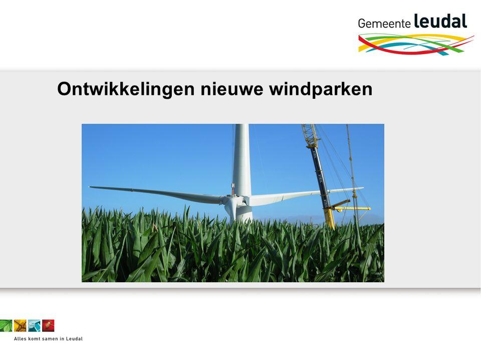 Ontwikkelingen nieuwe windparken