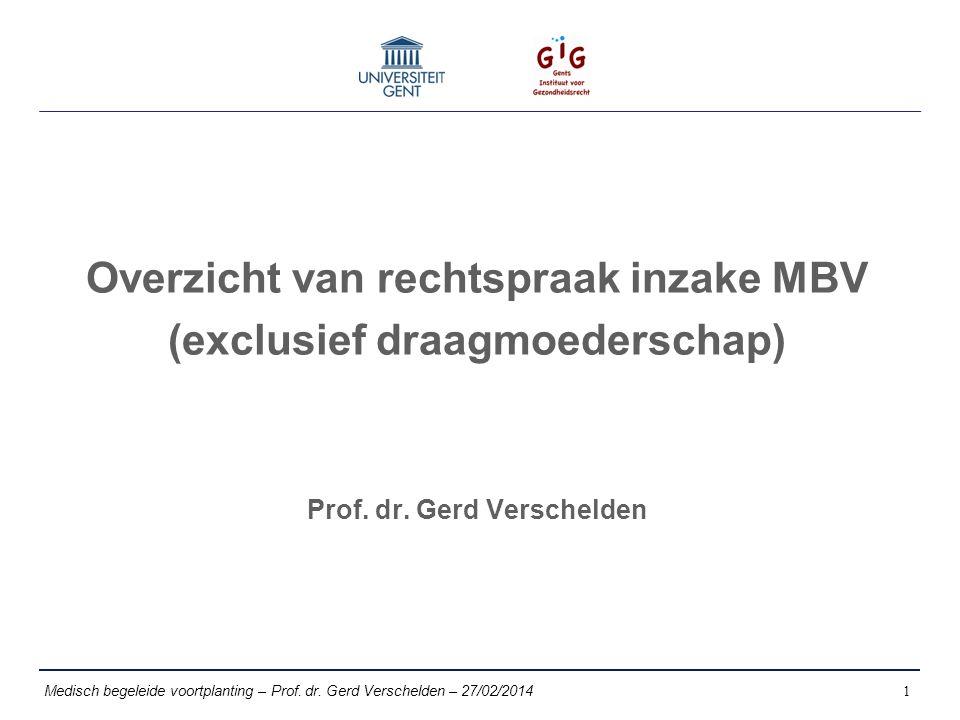 Medisch begeleide voortplanting – Prof. dr.