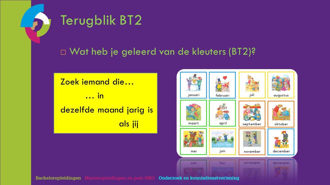 Terugblik BT2  Wat heb je geleerd van de kleuters (BT2).