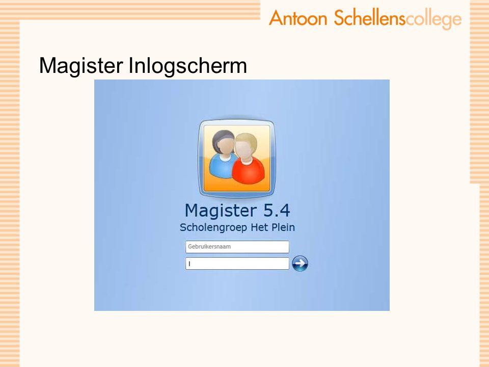 Magister Inlogscherm