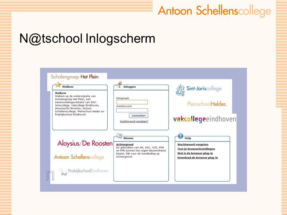 N@tschool Inlogscherm