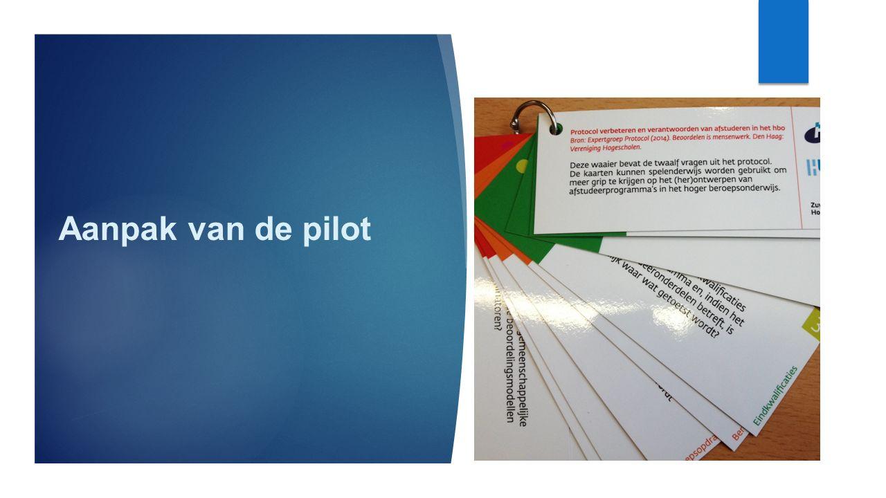 Aanpak van de pilot