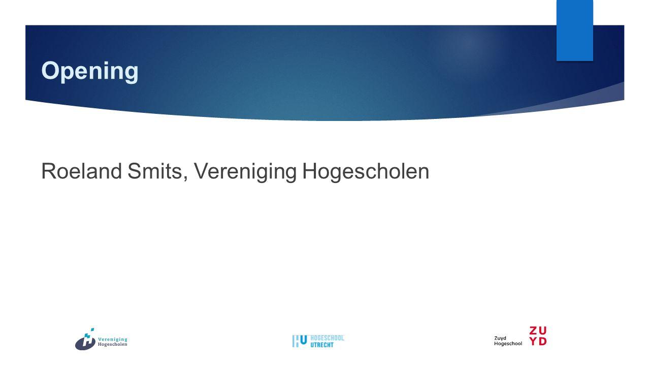 Opening Roeland Smits, Vereniging Hogescholen