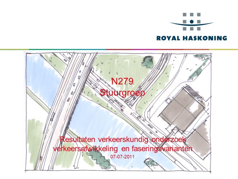 N279 Stuurgroep Resultaten verkeerskundig onderzoek verkeersafwikkeling en faseringsvarianten 07-07-2011