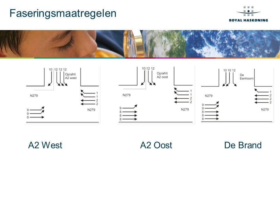 Faseringsmaatregelen A2 WestA2 OostDe Brand