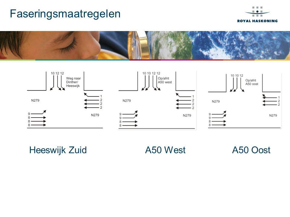 Faseringsmaatregelen Heeswijk ZuidA50 WestA50 Oost