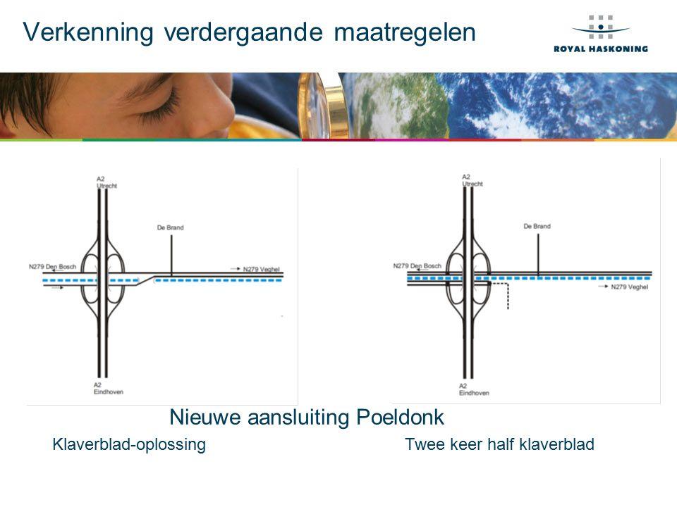 Verkenning verdergaande maatregelen Nieuwe aansluiting Poeldonk Klaverblad-oplossing Twee keer half klaverblad