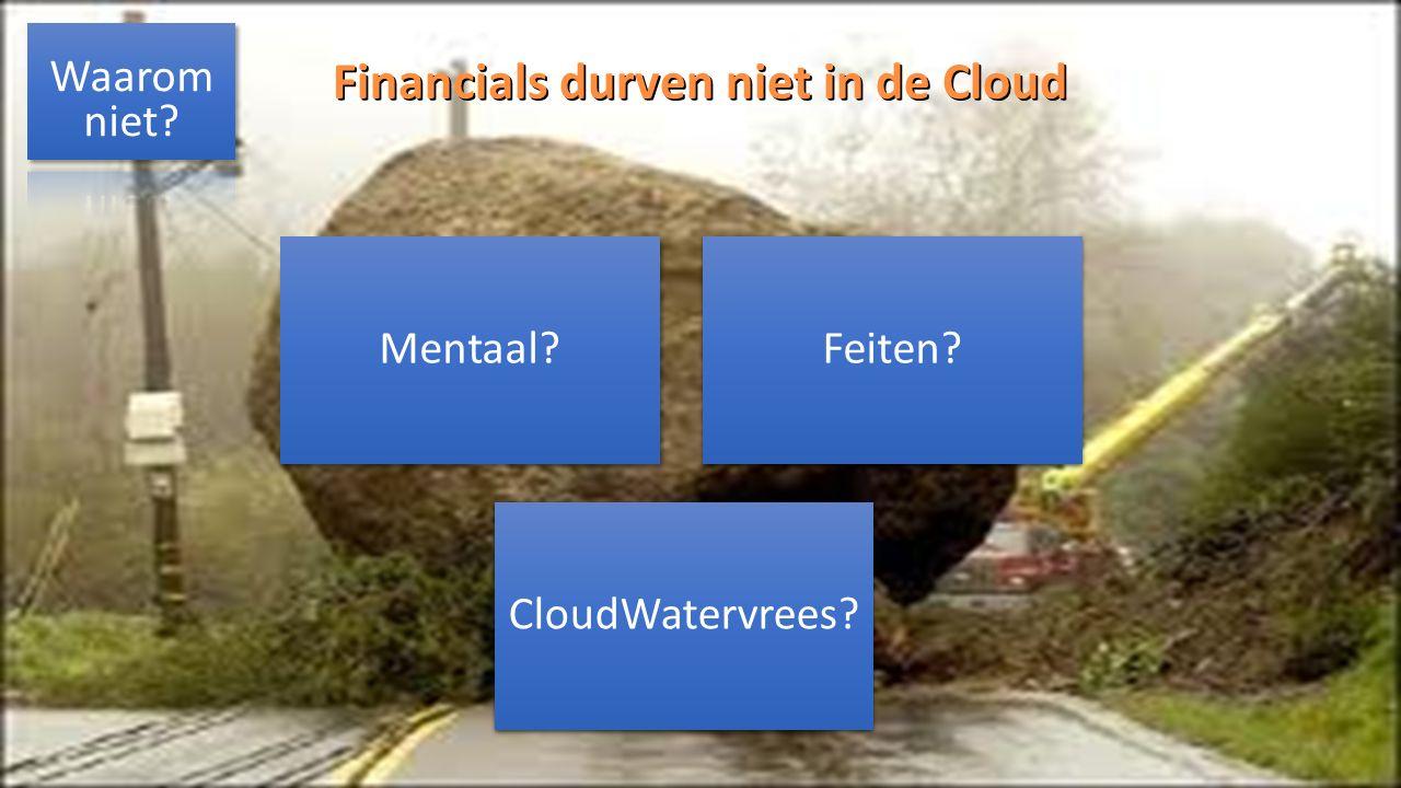 http://andresalomons.nl Financials durven niet in de Cloud Mentaal?Feiten? CloudWatervrees?