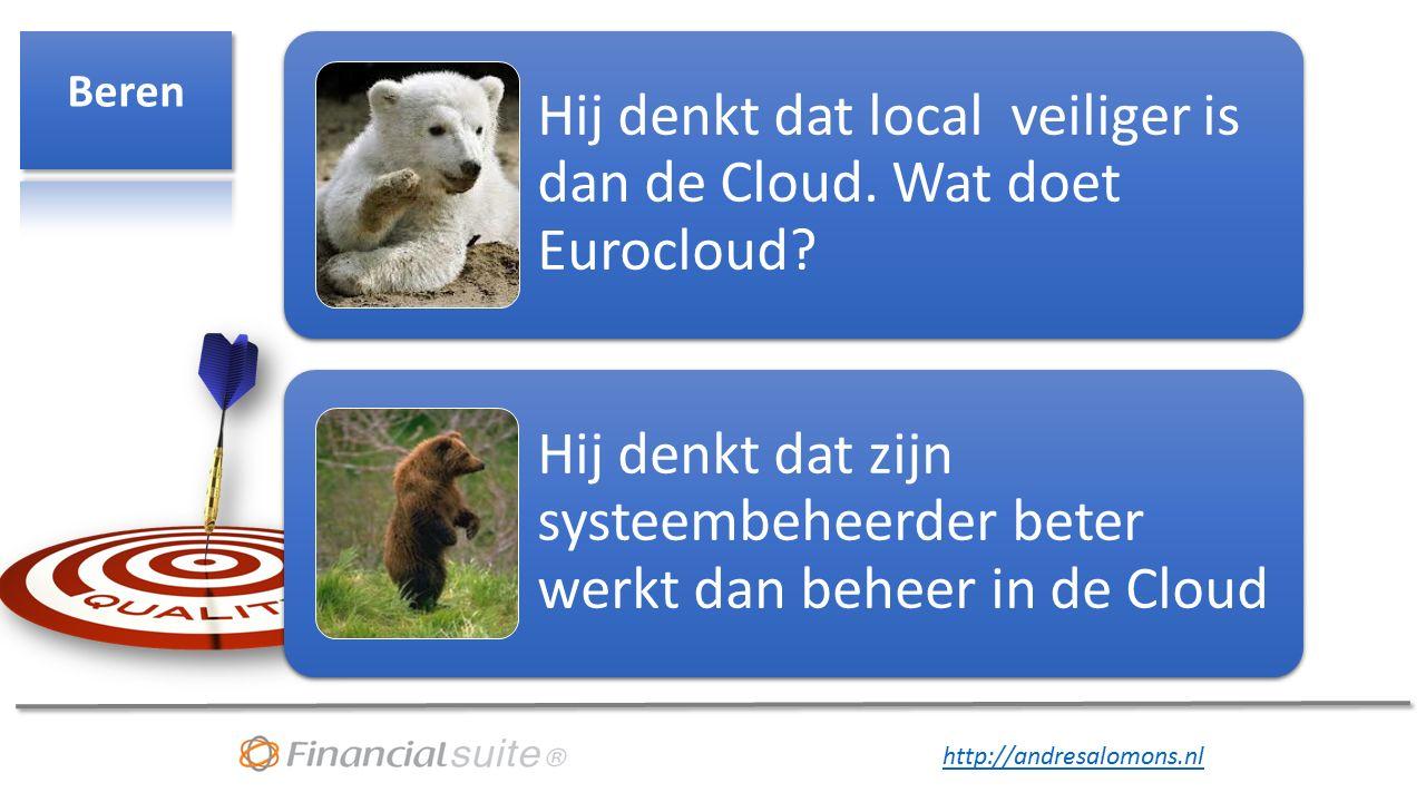Hij denkt dat local veiliger is dan de Cloud.Wat doet Eurocloud.