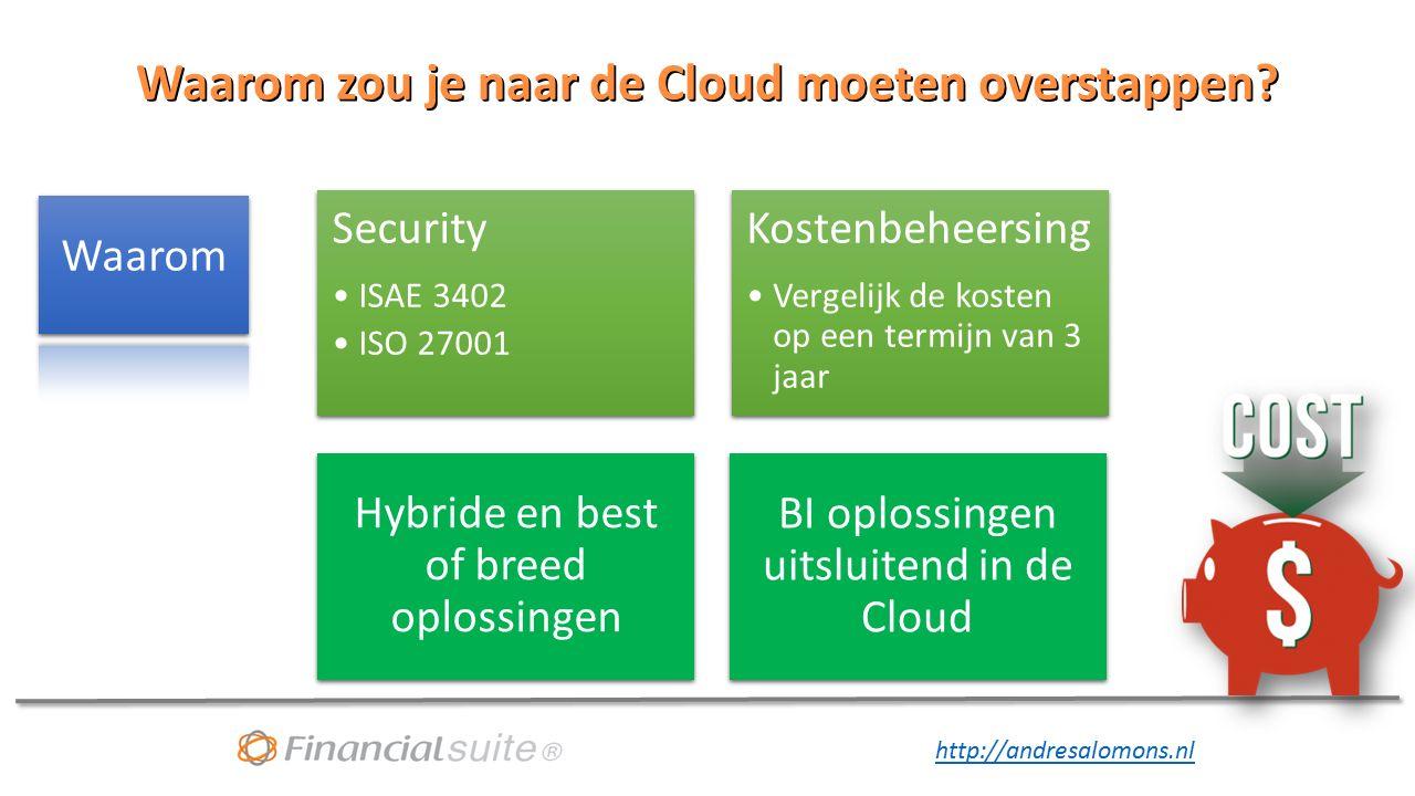 http://andresalomons.nl Waarom zou je naar de Cloud moeten overstappen.