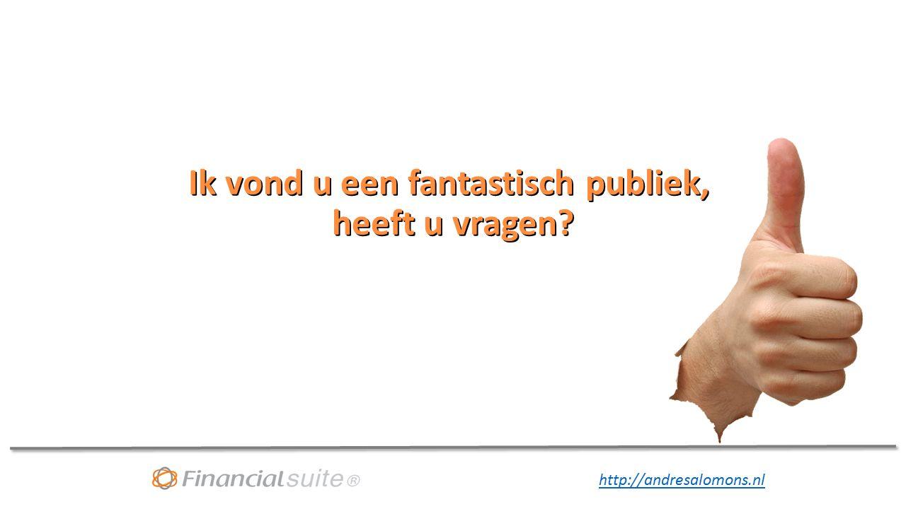 http://andresalomons.nl Ik vond u een fantastisch publiek, heeft u vragen
