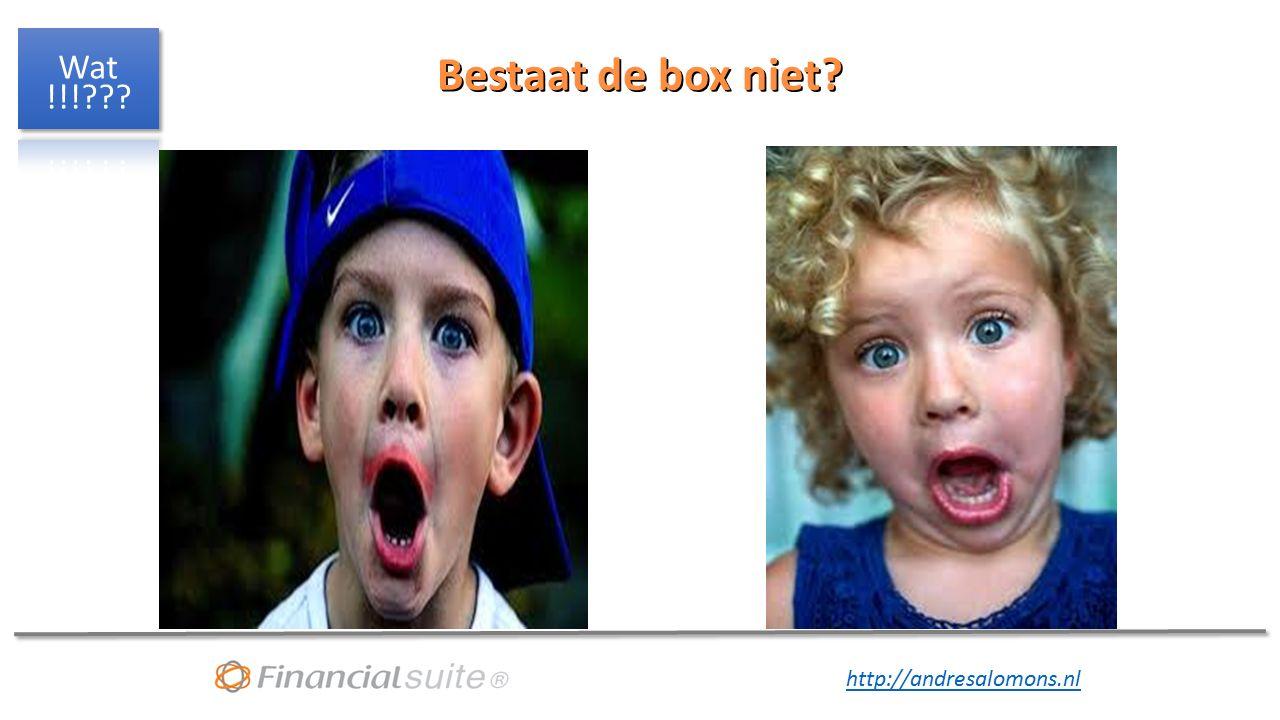 http://andresalomons.nl Bestaat de box niet