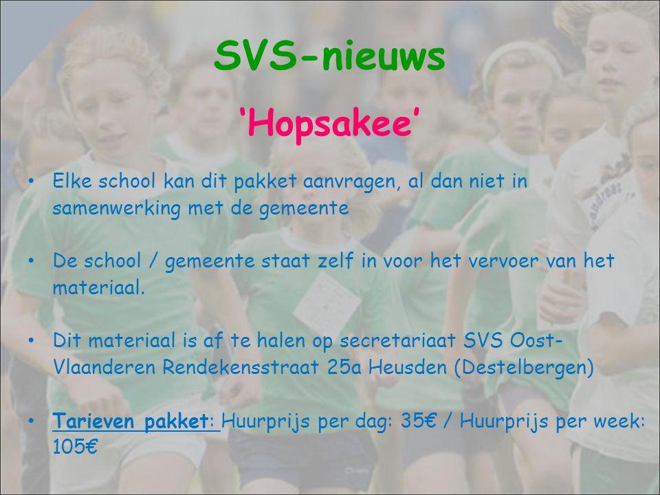Elke school kan dit pakket aanvragen, al dan niet in samenwerking met de gemeente De school / gemeente staat zelf in voor het vervoer van het materiaa