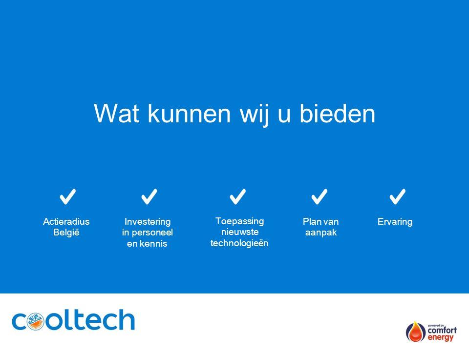 Wat kunnen wij u bieden Actieradius België ErvaringInvestering in personeel en kennis Toepassing nieuwste technologieën Plan van aanpak