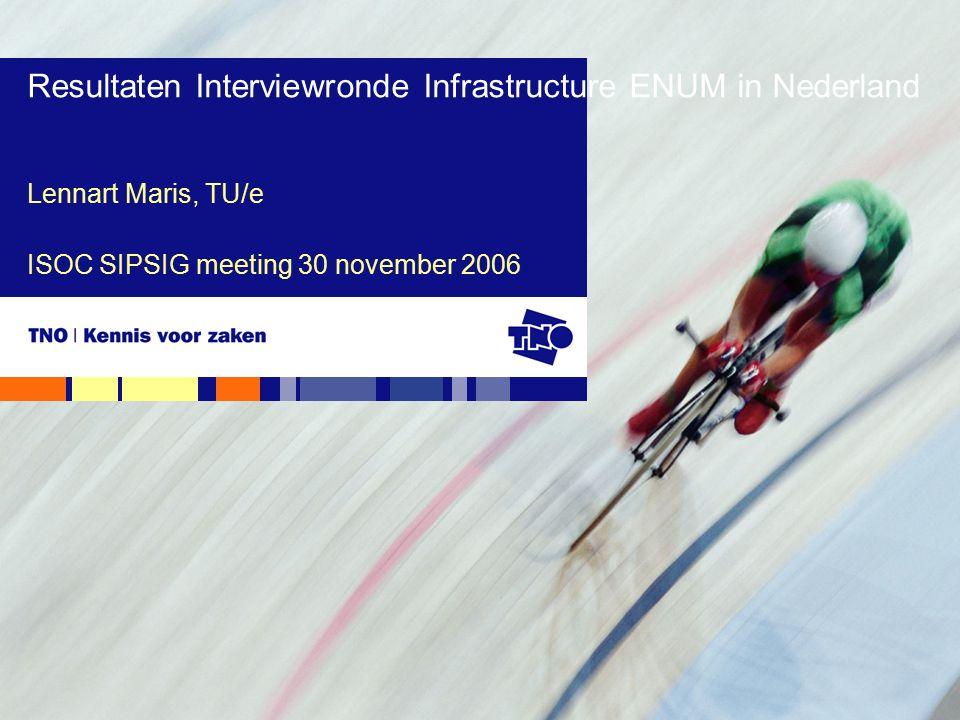 Delft, donderdag 30 november 2006ISOC SIPSIG meeting12 Visie op de toekomst