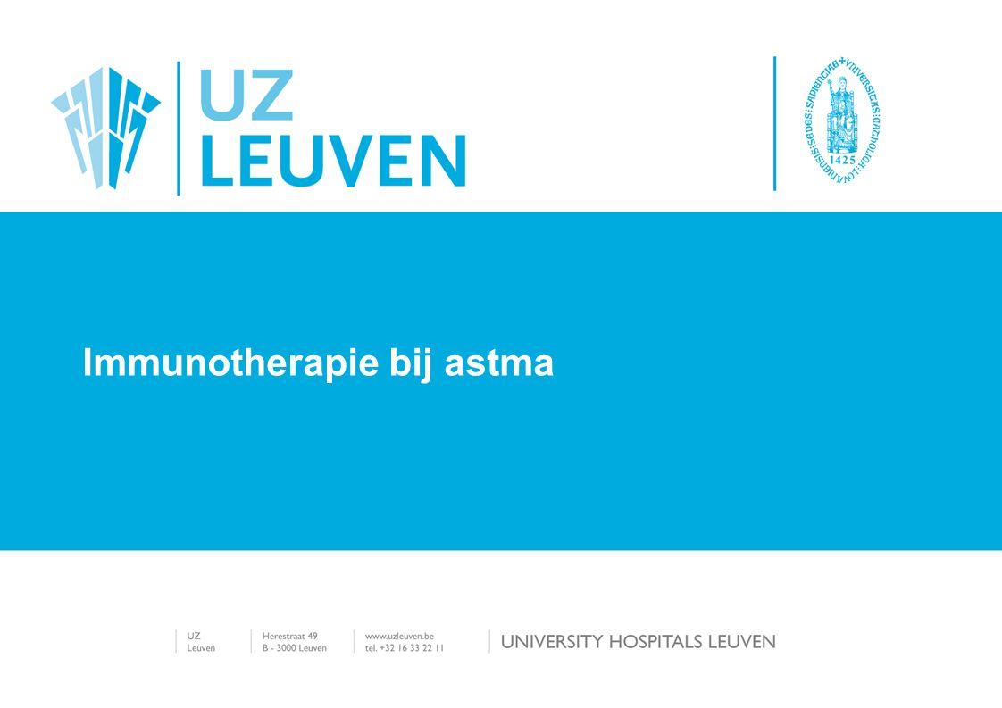 Immunotherapie bij astma