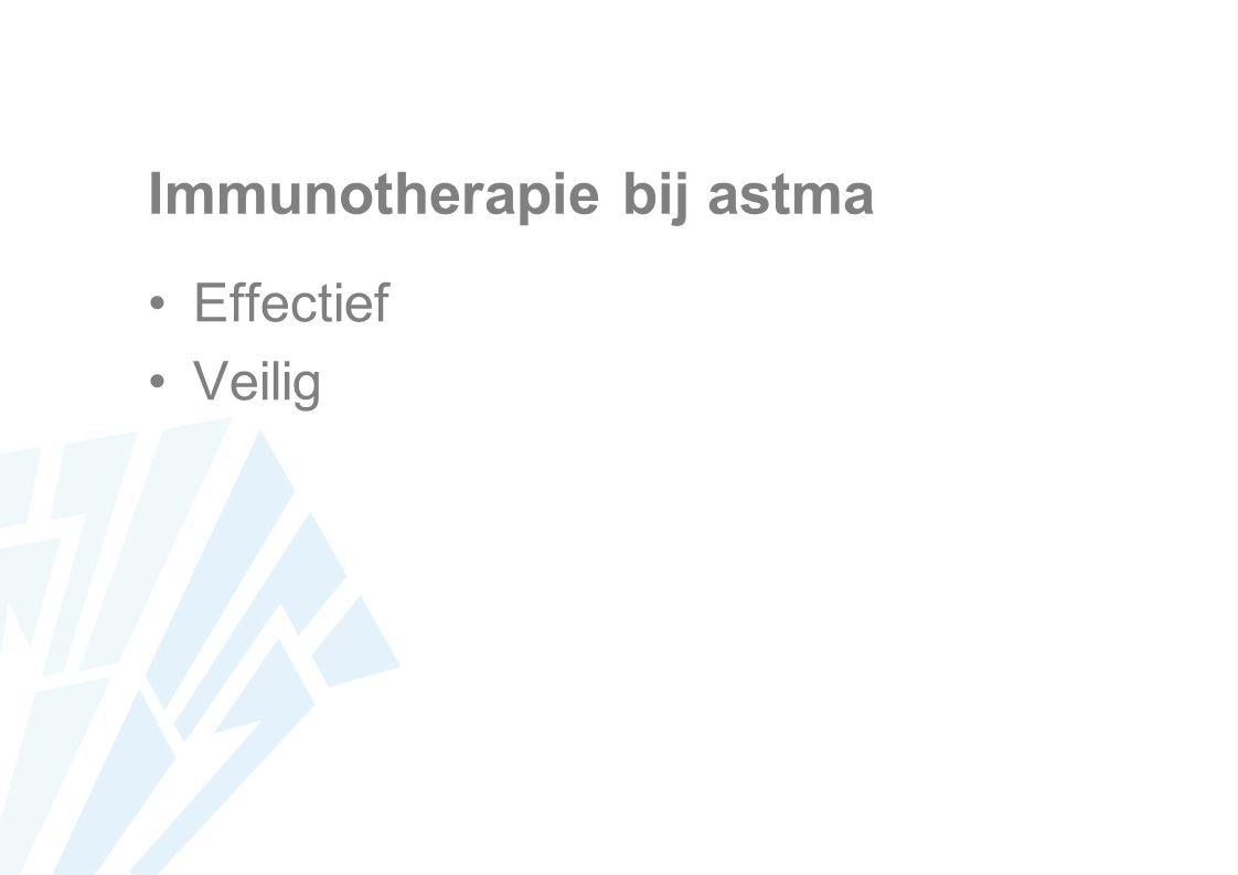Immunotherapie bij astma Effectief Veilig