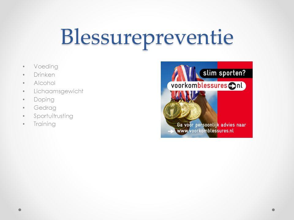 Blessurepreventie Voeding Drinken Alcohol Lichaamsgewicht Doping Gedrag Sportuitrusting Training