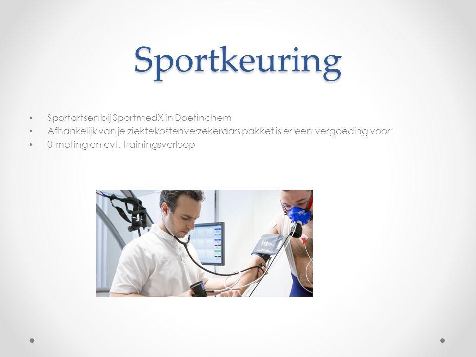 Sportkeuring Sportartsen bij SportmedX in Doetinchem Afhankelijk van je ziektekostenverzekeraars pakket is er een vergoeding voor 0-meting en evt. tra