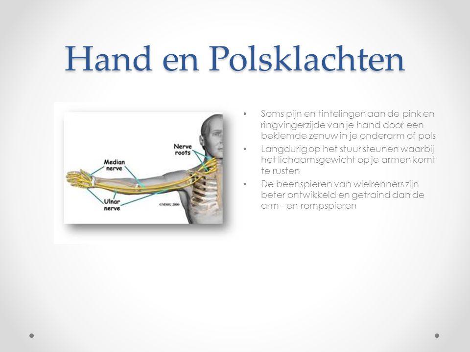 Hand en Polsklachten Soms pijn en tintelingen aan de pink en ringvingerzijde van je hand door een beklemde zenuw in je onderarm of pols Langdurig op h