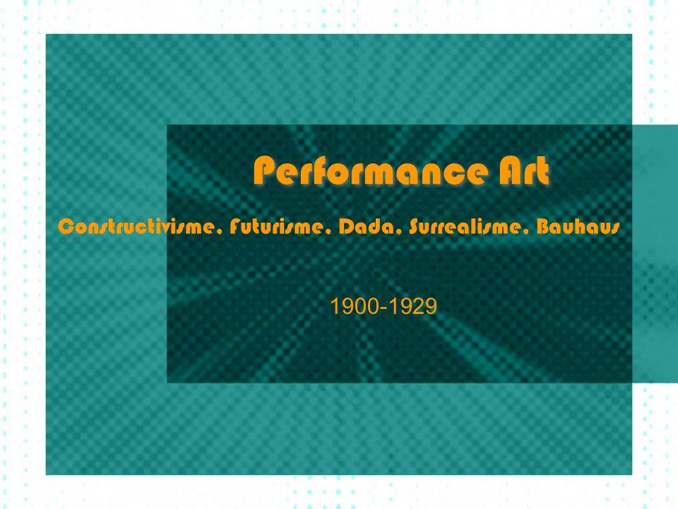 Artistieke vernieuwing (Prampolini) Hoofddoel: Gesamtkunstwerk (!), Dynamische, gefragmenteerde simultane synthese (eenheid) van beeld, geluid, geur, woorden, voor alle zintuigen.
