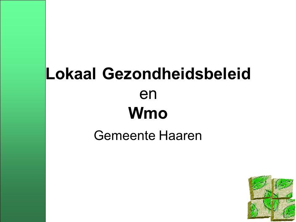 Combinatiemogelijkheden Wmo en WCPV Eén nota lokaal gezondheidbeleid (LGB) Wmo-(beleids)plan Wmo-(beleids)plan en nota LGB naast elkaar Wmo-(beleids)plan en beleidsbrief WCPV