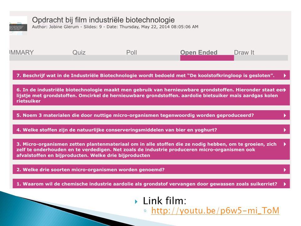  Link film: ◦ http://youtu.be/p6w5-mi_ToM http://youtu.be/p6w5-mi_ToM
