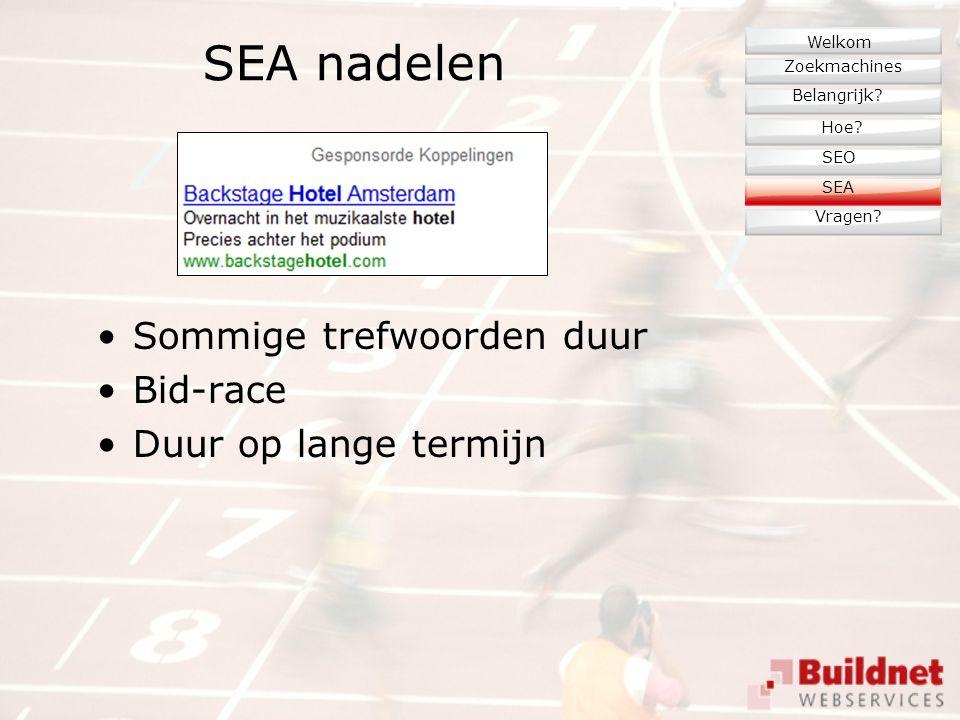 SEA nadelen Sommige trefwoorden duur Bid-race Duur op lange termijn Zoekmachines Belangrijk.