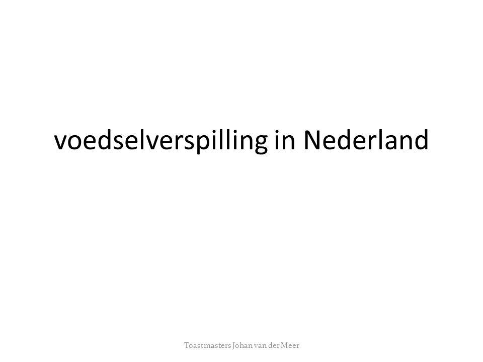 voedselverspilling in Nederland Toastmasters Johan van der Meer