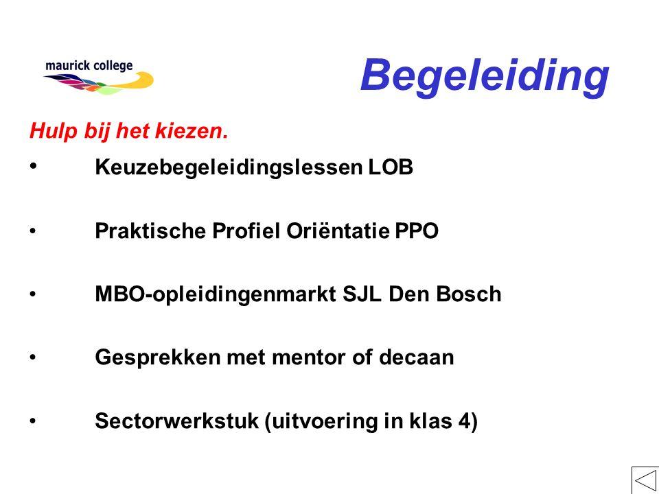 Begeleiding Hulp bij het kiezen. Keuzebegeleidingslessen LOB Praktische Profiel Oriëntatie PPO MBO-opleidingenmarkt SJL Den Bosch Gesprekken met mento